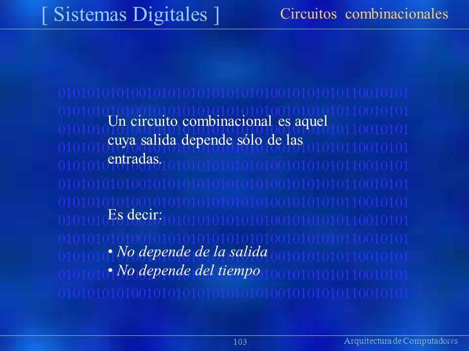 [ Sistemas Digitales ] Circuitos combinacionales